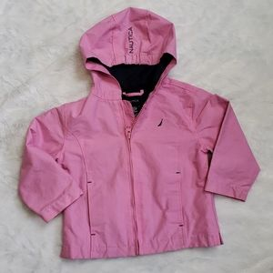 NAUTICA Pink / Blue Hooded Zip Jacket 2T